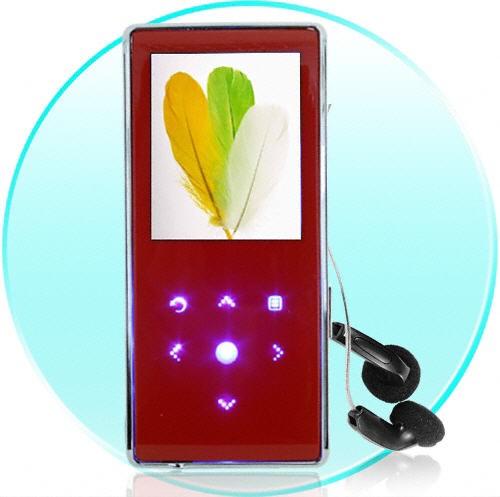 Music Lovers edition Red MP4 grotuvas 4Gb Sensorinis valdymas!