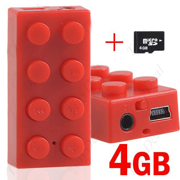 MP3 Grotuvas LEGO Block RED