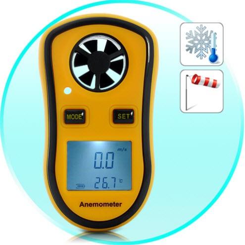 Anemometras - Vėjo Greičio Matuoklis + Termometras