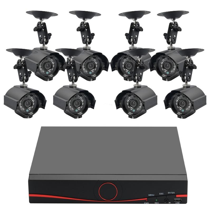 8 Lauko Kamerų Apsaugos Sistema Su Įrašymo Įrenginiu (H264 DVR 1TB, Sony CCD, Naktinis matymas)
