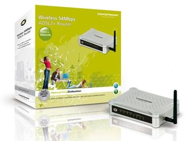 Conceptronic Bevielis 54 Mbps ADSL2+ maršrutizatorius (C54APRA2+)