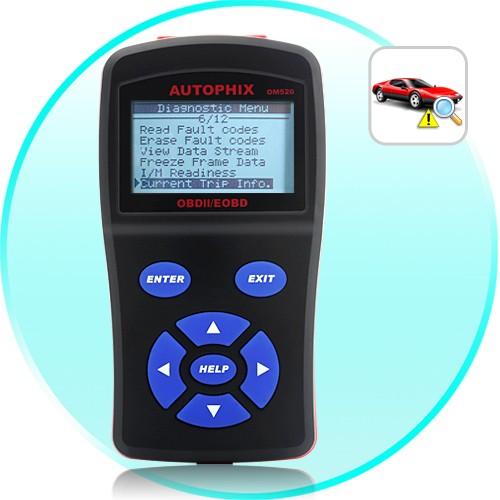 Profesionalus OBD-II Klaidų Skaitytuvas Autophix OM520 (Live data,  CAN, PWM, VPW, KPW, ISO9141 Protokolai)