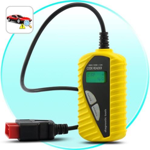 EOBD OBD-II Autodiagniostika Klaidų Skaitytuvas - Easy Use Yellow