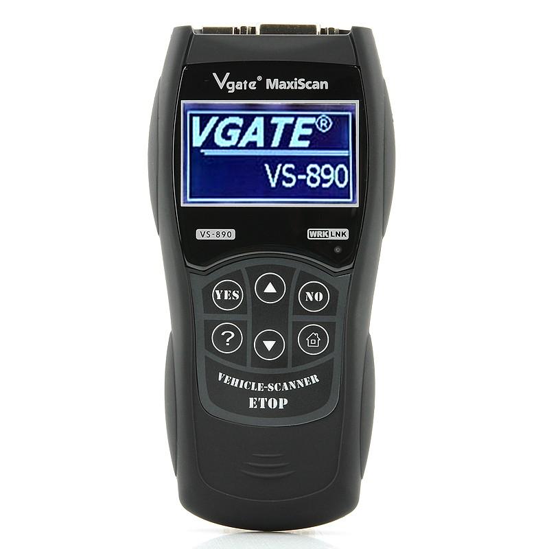 Automobilio Klaidų Skaitytuvas Vgate VS-890 (OBD2 +EOBD, 70 Automobilių Markių, Profesionalus )