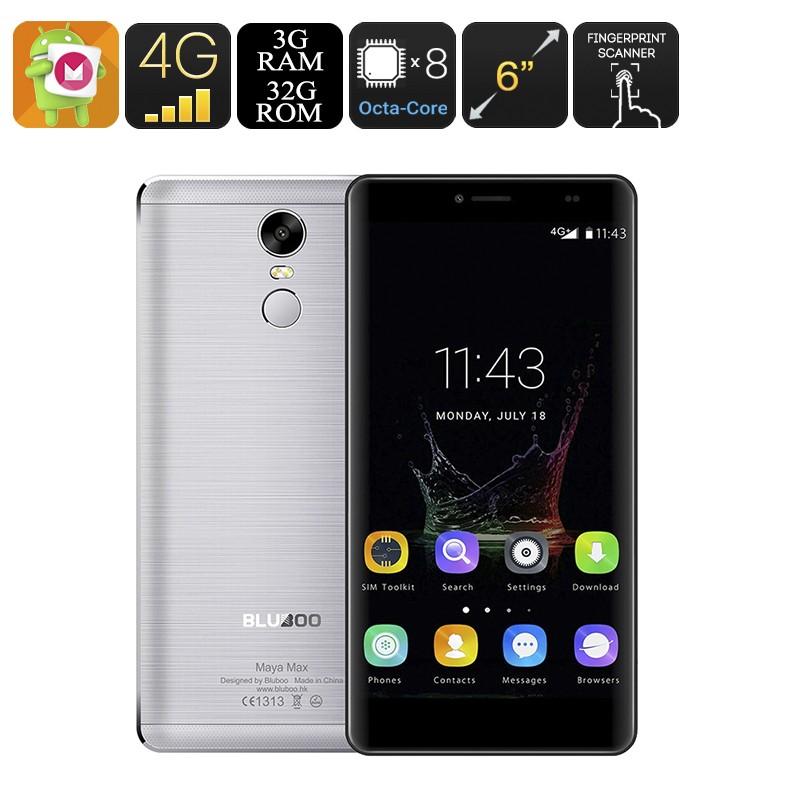 "Išmanusis Telefonas ""BluBoo Maya Max"" (6"", Android 6.0, 4G, OTG, Octa-Core CPU, 3Gb RAM, 32Gb Memory, Dual SIM, DUAL IMEI)"