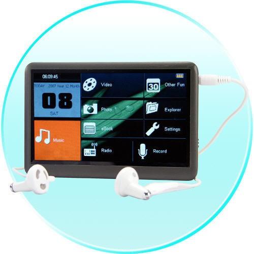 MP4 Grotuvas The Bomb - 8GB ir 4.3 Colių Touchscreen LCD + TV OUT
