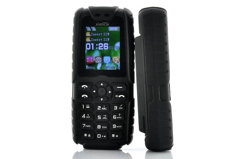 Mobilusis telefonas Xiaocai X6 Black (5000Mah baterija, 2SIM, FM radija, LED prožektorius)