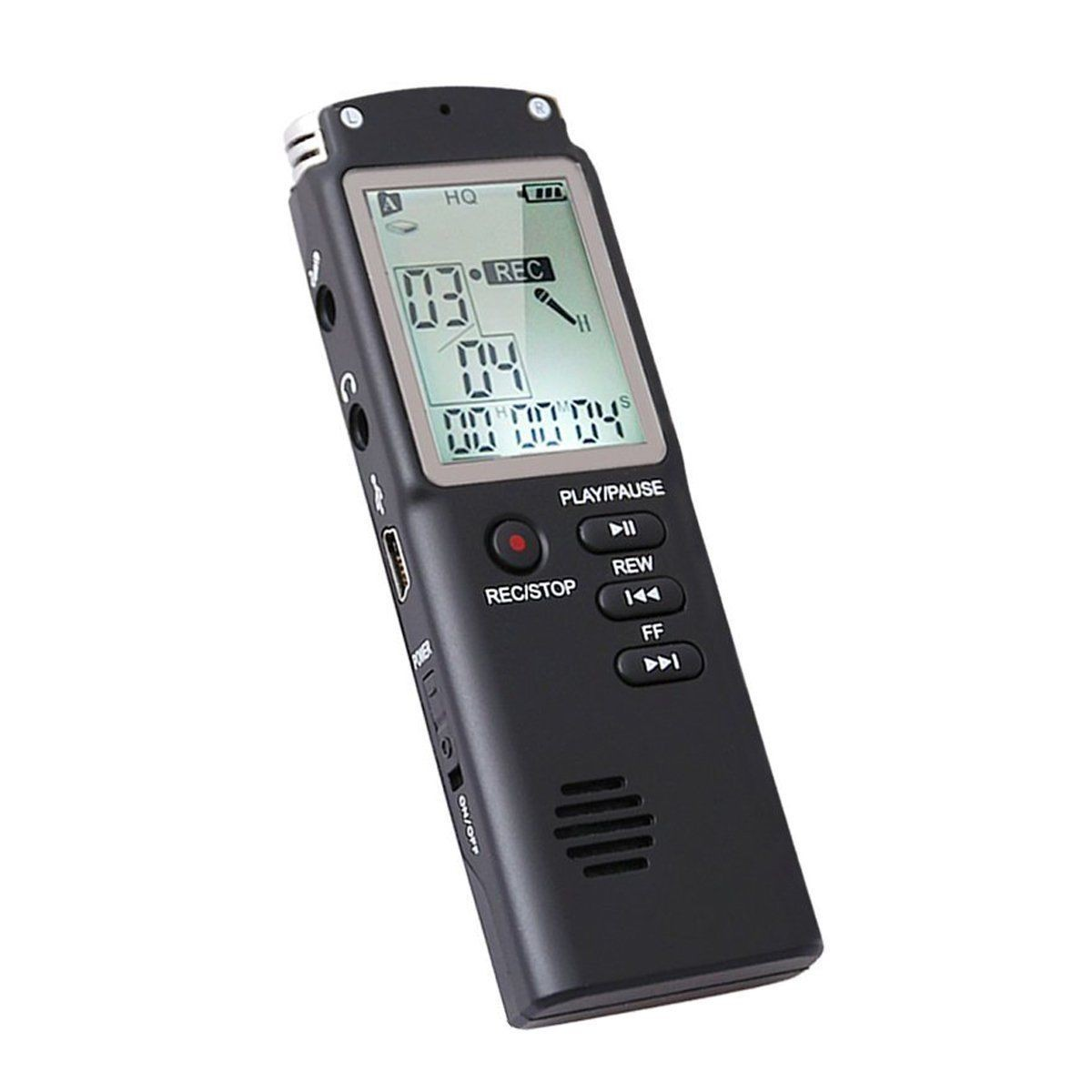 Diktofonas Su VOX Balso Atpažinimo Funkcija (16Gb Atmintis, Li-Ion Baterija, Stereo Įrašymas)