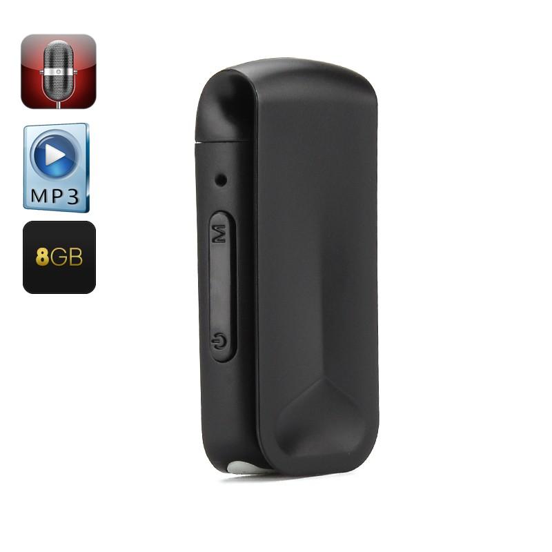Diktofonas - MP3 Grotuvas (8Gb, OTG Palaikymas, One Key Play)