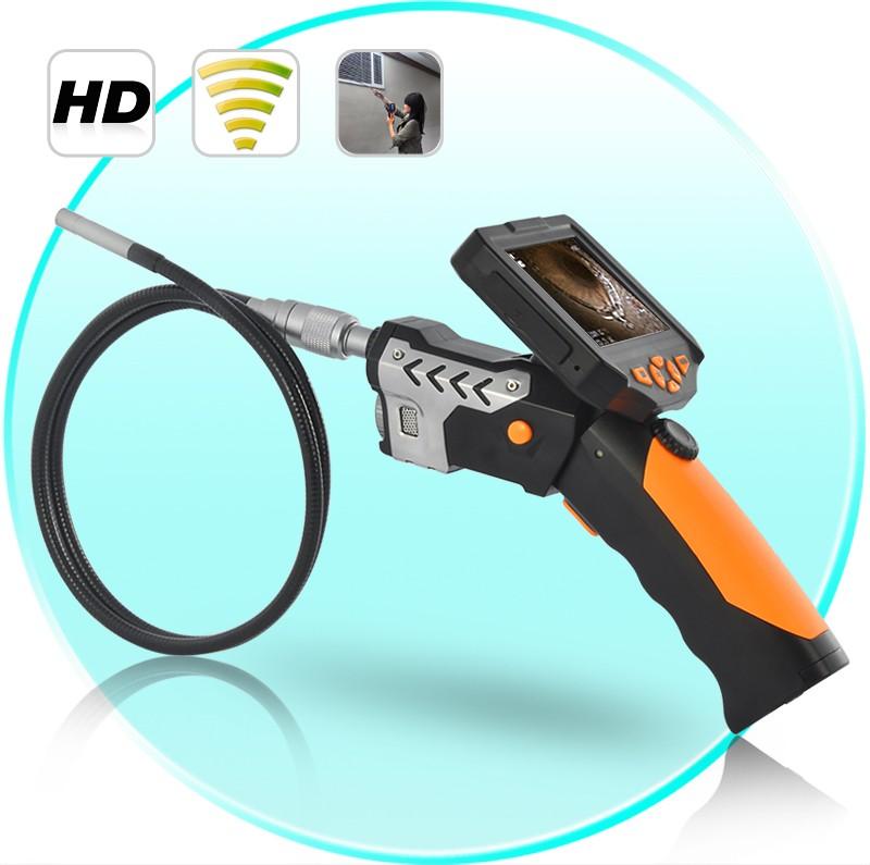 """Endoskopinė Kamera - Zondas Su 3.5"""" Ekranu + DVR (8.2mm, IP67, 3m laidas, 1280x720)"""