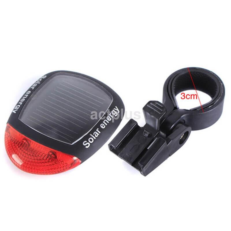 Galinis Dviračio Žibintas LED (Su saulės baterija)