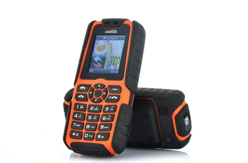 Mobilusis Darbinis Telefonas X6 Xiaocai (5000mAh baterija, 2 SIM, LED Žibintuvėlis, FM Radijas)