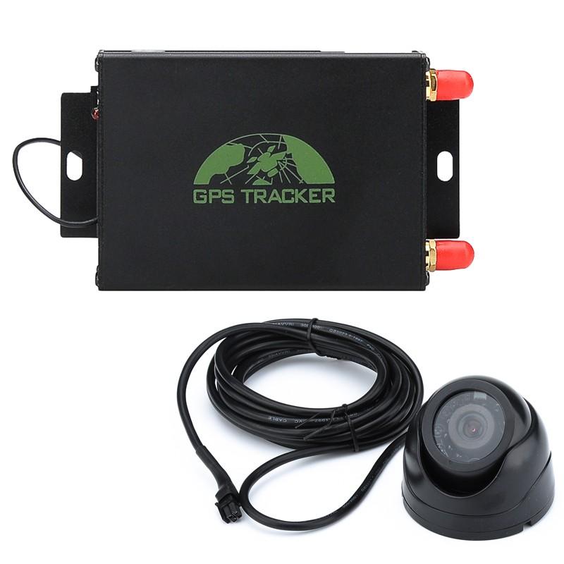 Automobilių GPS seklys 12-24V Su Kamera (SMS pranešimai, GEO Apsaugos Zona, Shock sensor, Nuotolinis Variklio Išjungimas)