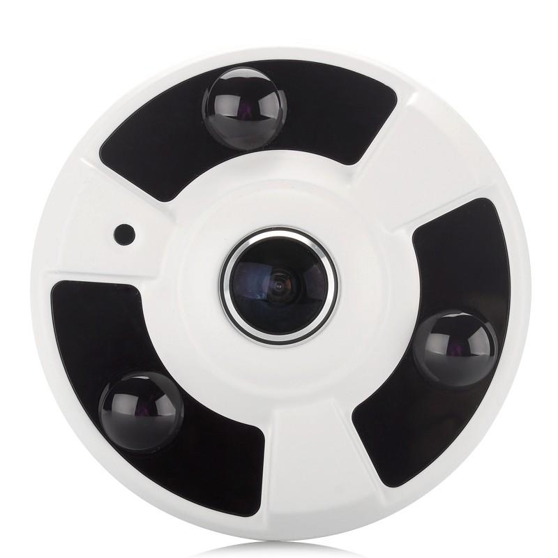 "Vidaus IP Apsaugos Kamera ""Fisheye"" (180° Matymo Kampas, 1.3Mpx, 1/4CMOS, 960p, ONVIF 2.0)"