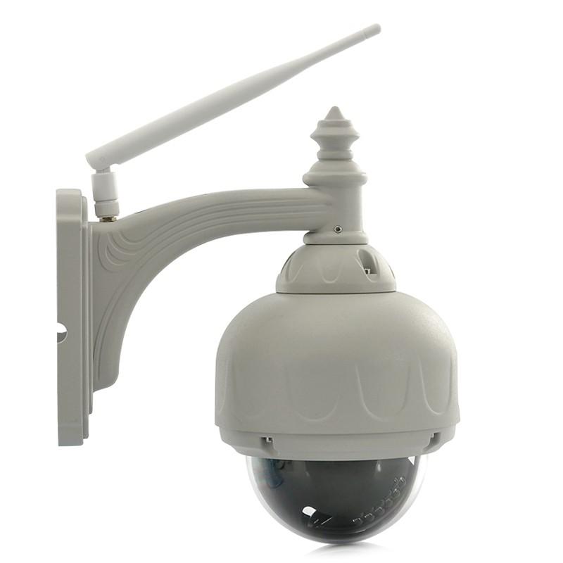 HD PTZ Lauko IP Apsaugos Kamera (WIFI, 3x Zoom, H.264, 720p, Night Vision, Micro SD)