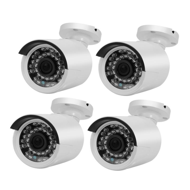 4 CCTV Analoginių Kamerų Komplektas - 720p, PAL/NTSC, Naktinis matymas