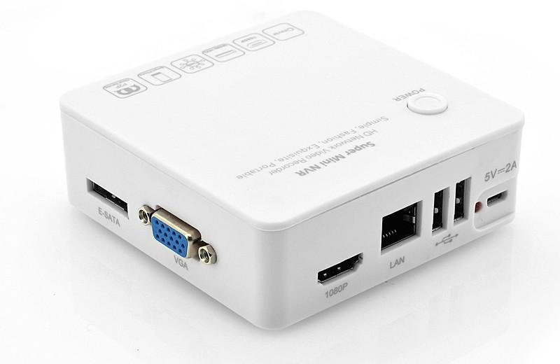 "NVR 4 kanalų HD Mini IP Kamerų Įrašymo Įrenginys ""Box-Watch"" (Network Video Recorder)"