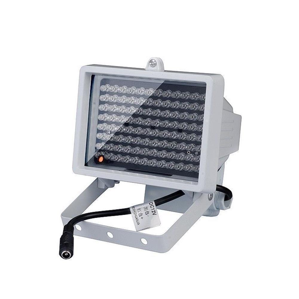 96 LED IR Spindulių Prožektorius (12V, 2A, Infraraudonųjų Spindulių Apšvietimas)