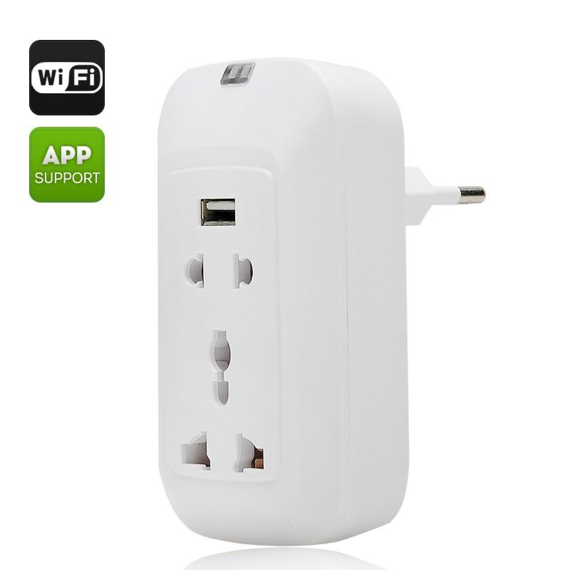Išmanioji Wifi Rozetė Su Nuotoliniu Valdymu (220V,  2200W 10A, Android + iOs)