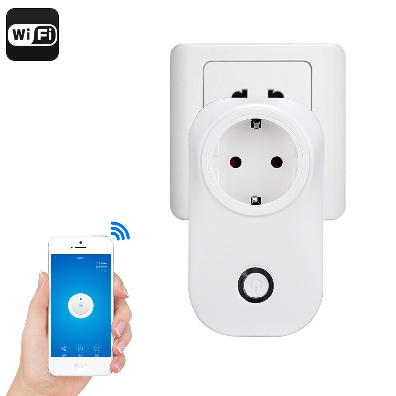 Išmanioji Rozetė Smart Home Wifi Plug (10A/2200W, Android+iOs Suderinamumas)