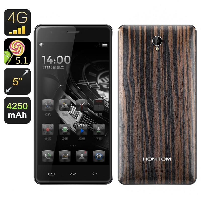 "Išmanusis telefonas ""Homtom HT5 Ebony"" (Gorilla Glass, Android 5.1, 4G, 64-bit CPU, 4250mAh)"