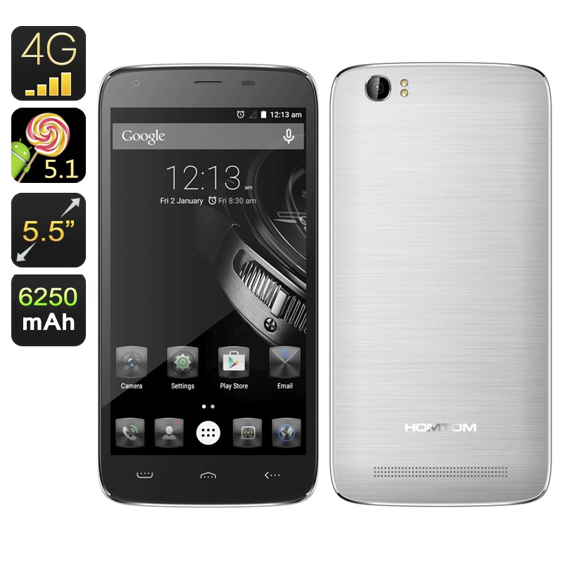 "Išmanusis Telefonas ""HOMTOM HT6"" - 6250mAh baterija, Android 5.1, Gorilla Glass, 64-bit Quad Core CPU, 5.5"" ekranas"