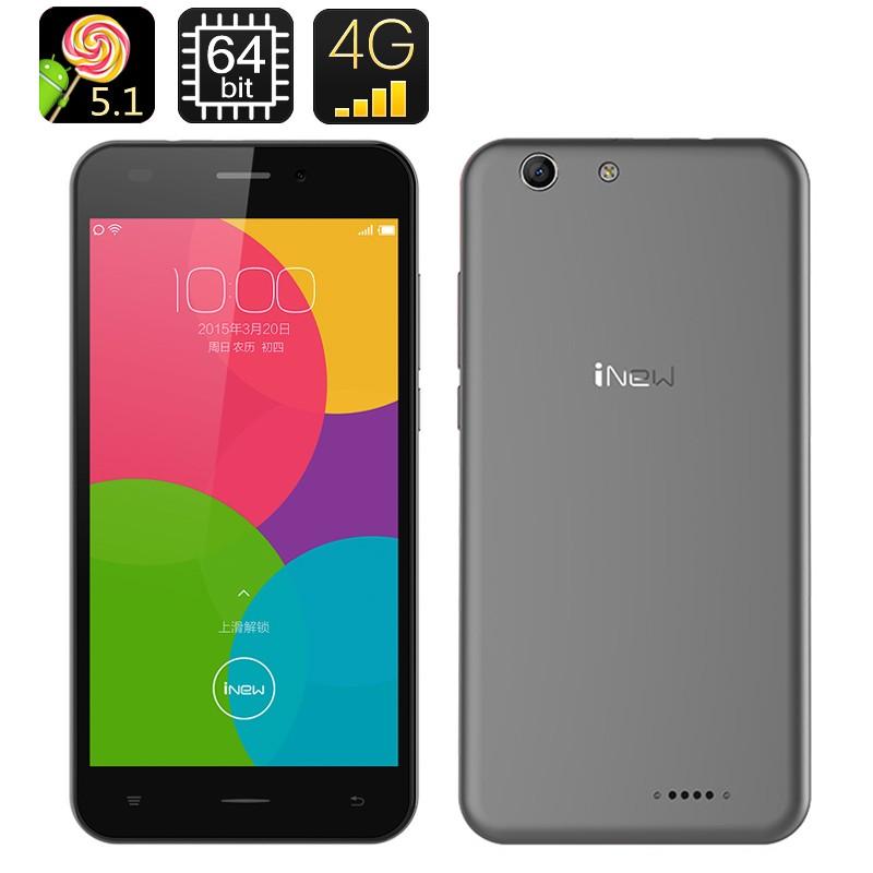 "Mobilusis telefonas ""iNew U5 Smartphone"" - 5"" ekranas, Quad Core CPU, Android 5.1 OS, 1GB RAM+16GB memory"