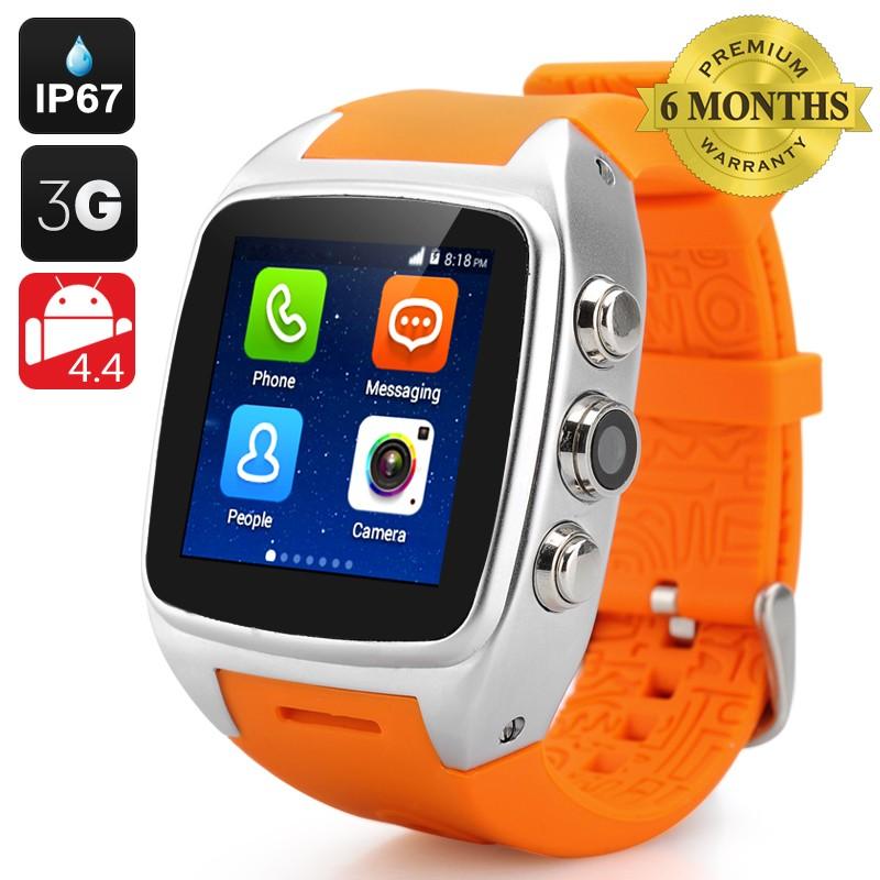 "Išmanusis Laikrodis - Telefonas ""iMACWEAR SPARTA M7"" (IP67, 3G, Android 4.4, 1.54"" Screen, Dual Core CPU)"