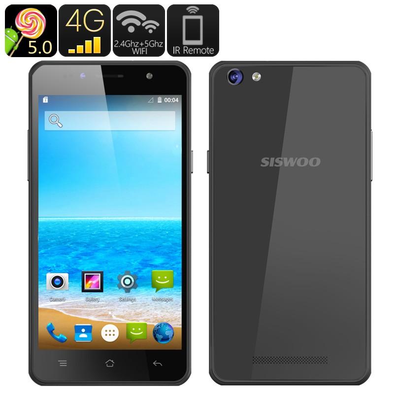 "Išmanusis Telefonas ""SISWOO C50"" (Android 5.0, 4G, Dual SIM, 64-bit Quad Core CPU, 5"" Ekranas)"