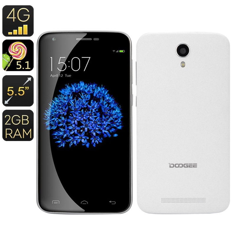"Išmanusis Telefonas ""Doogee Y100 Plus"" - 4G, Quad Core CPU, 5.5"" ekranas 720P, 2Gb RAM, Gorilla Glass, 3000mAh"