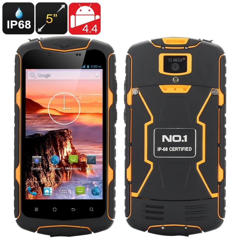 """Išmanusis Telefonas """"No.1 X1"""" - 5"""" ekranas, IP68 reitingas, GPS, 2kameros, 3300mAh Baterija, 2SIM kortelės"""