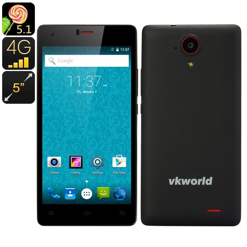 """Išmanusis telefonas """"VKWorld 6735x"""" - 5"""" ekranas, Android 5.1 OS, 4G, 2SIM, QUAD Core Procesorius, 3000mAh Baterija"""