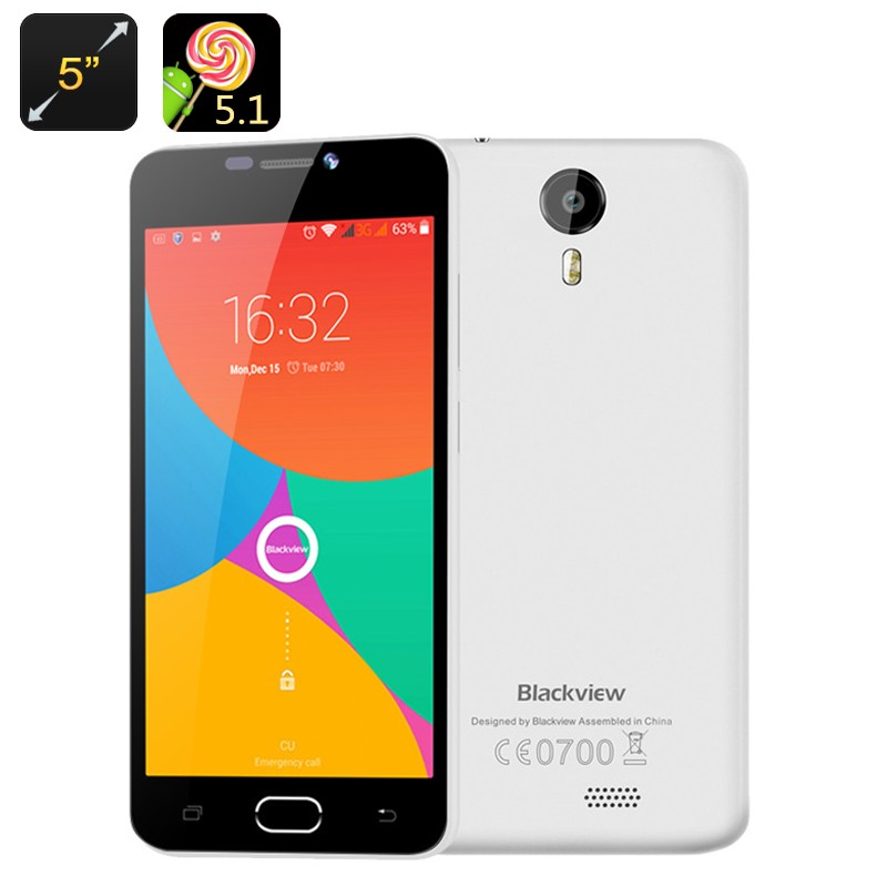 "Išmanusis Telefonas ""Blackview BV200"" (5"" ekranas, 4G, Quad Core procesorius, Android 5.1 OS)"