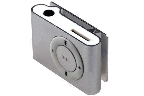 Clamp Mini 8Gb Prisegamas Sidabrinis MP3 grotuvas