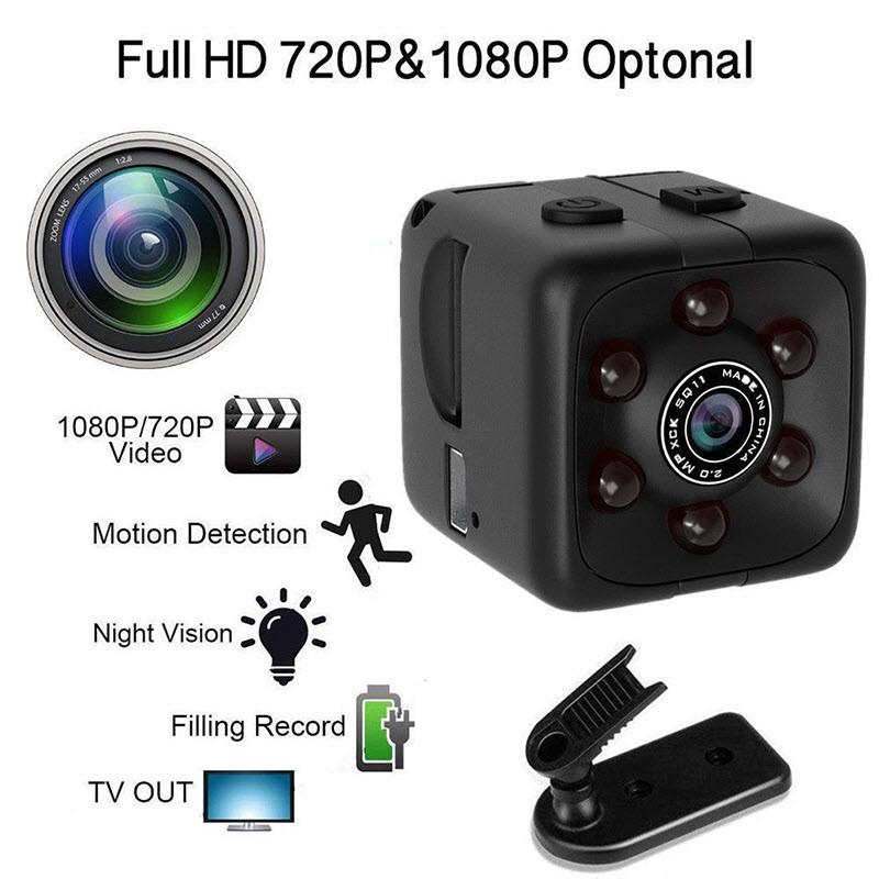 Slapta Mini Kamera - Kubas (1080p Raiška, Judesio Aptikimas, Naktinis Matymas, iki 32Gb Atmintis)