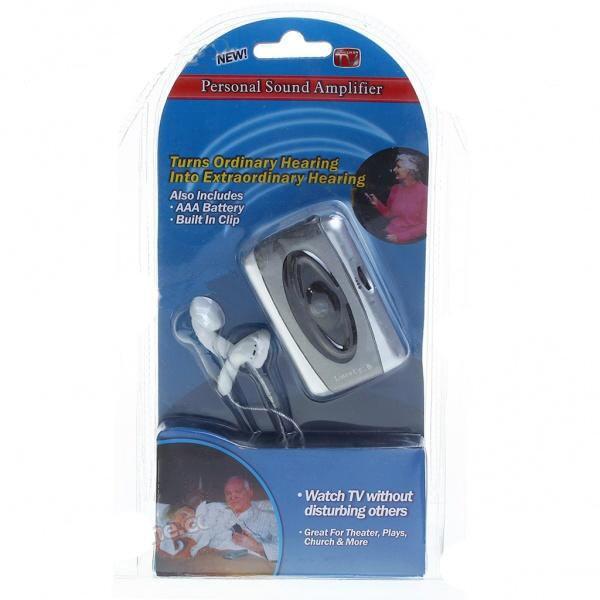 Klausos aparatas Silver + Grey Digital Amplifier Hearing Aid