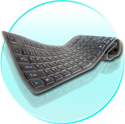 Sulankstoma Silikoninė Kompiuterinė Klaviatūra