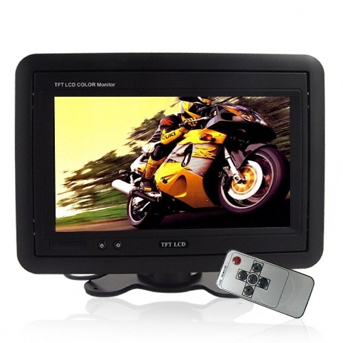 "LCD monitorius automobiliui 7"" (Juodas, 2 Video In)"