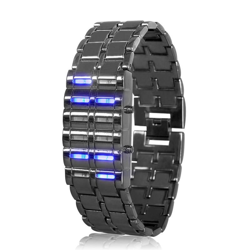"Binary LED ""Blue Samurai"" Laikrodis"