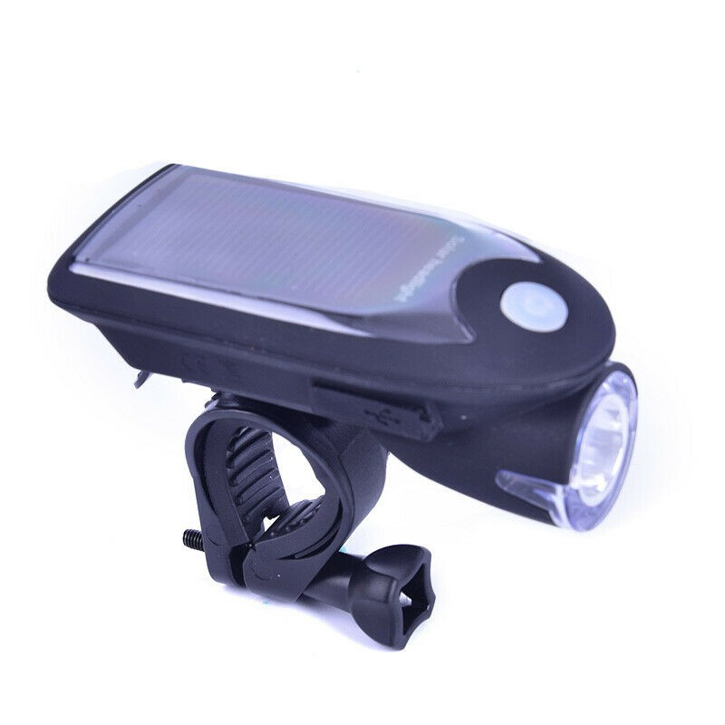 Priekinis LED Dviračio Žibintas (Su Saulės Baterija)