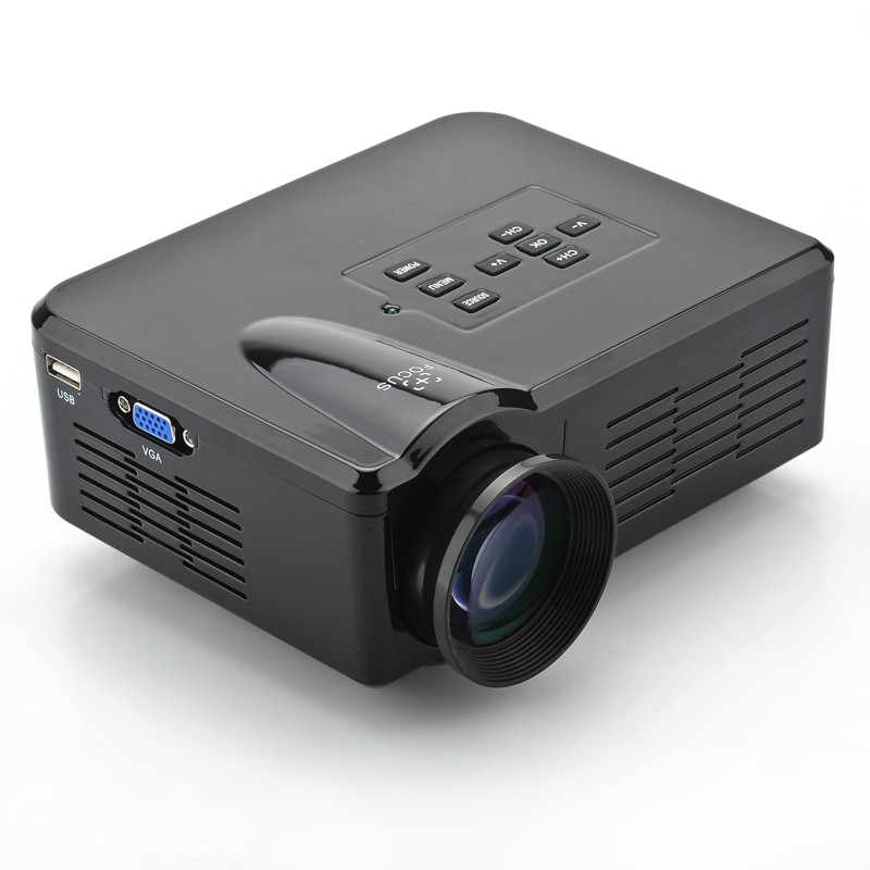 "1080p Mini LED projektorius Black Edition ( 1080p, 3.5 Inch LCD, 80 Lumen, 30-100"" , 500:1 Contrast, HDMI, USB, AV, TV, VGA )"