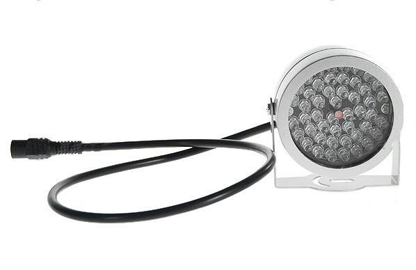 48 LED Infraraudonųjų Spindulių Naktinio Matymo Prožektorius (12V)