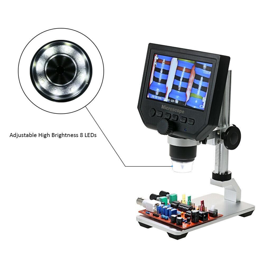"""Skaitmeninis Mikroskopas Su Ekranu 1080p HD (600x Artinimas, 4.3"""" Ekranas)"""