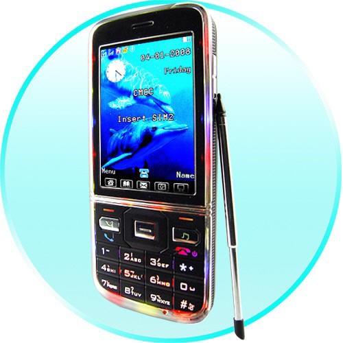 QuadBand Dual SIM Mobilus Telefonas – Slim Touchscreen (Black)