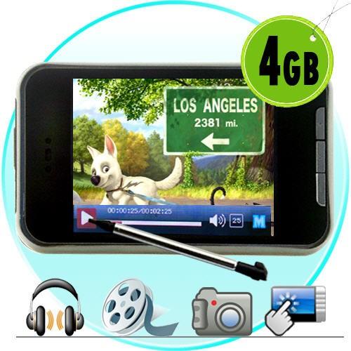 4GB TouchScreen MP4 Grotuvas Su Vaizdo 1,3Mpx Kamera