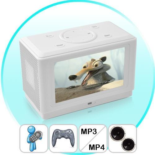 MP6 Grotuvas - White Cube Multimedia Centras (NES Žaidimai + Muzika + Filmai)