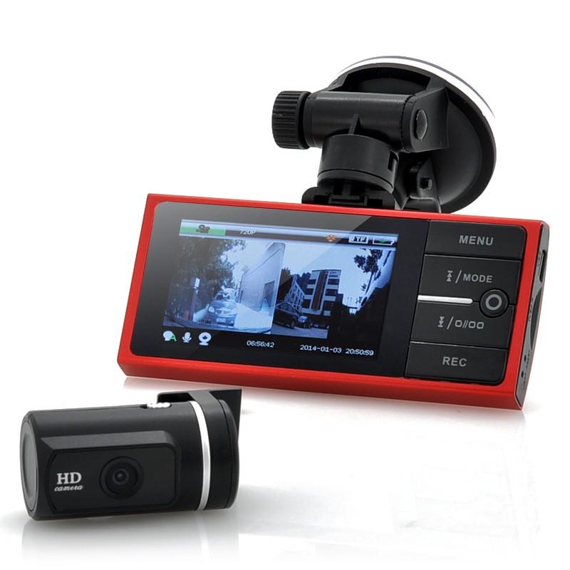 720p Videoregistratorius Su 720p Galinio Vaizdo Kamera (G sensorius, 4 LED, Naktinis matymas, judesio aptikimas)