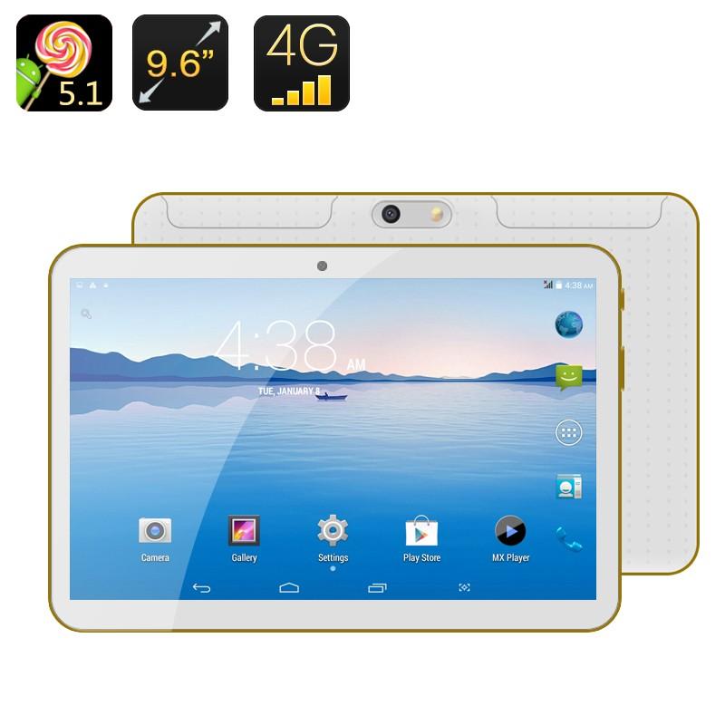"""9.6"""" Planšetė - Telefonas 2SIM (Android 5.1, Bluetooth 4.0, Dual SIM, 8 branduoliai, 16Gb)"""