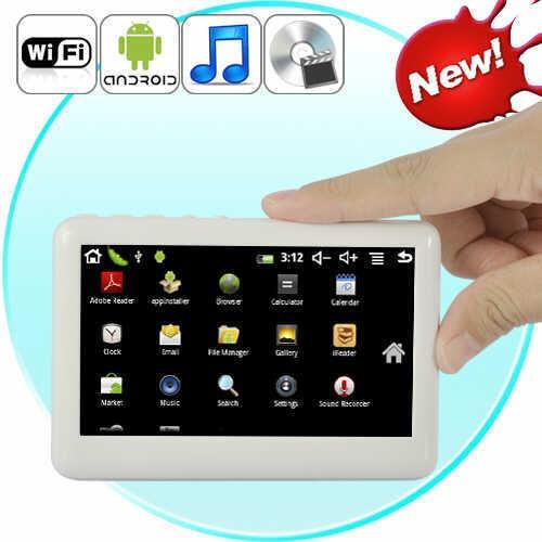 Planšetinis Kompiuteris PocketDroid (Android 2.3, Žaidimai, Filmai, Muzika, Internetas)