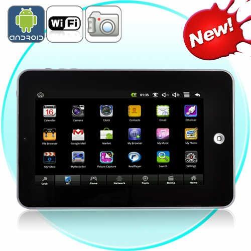 """7"""" Planšetinis Kompiuteris Su Android 2.2 OS Black Edition (Žaidimai, Kamera, Internetas, Muzika, Filmai)"""
